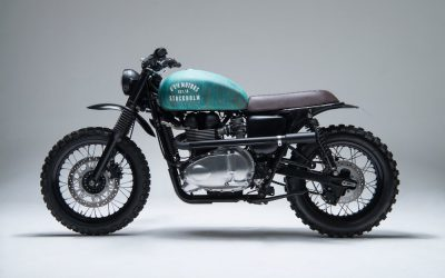 green scrambler motorcycle