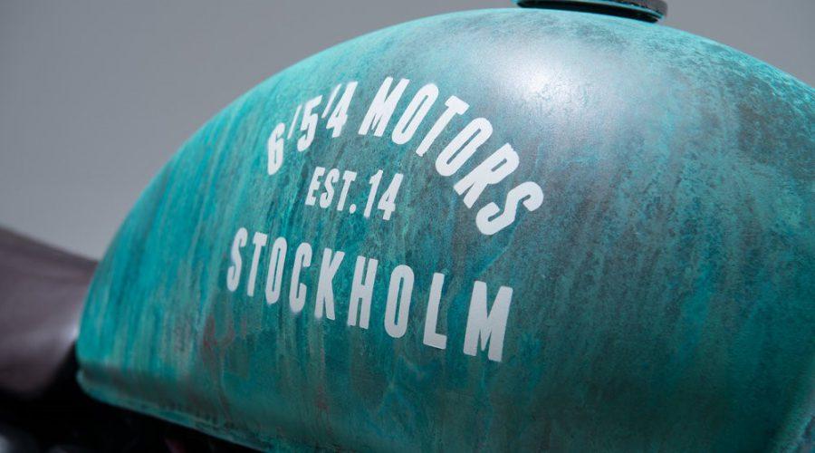 green scrambler motorcycle - 6/5/4 custom triumph Bonneville 10 scrambler fuel tank