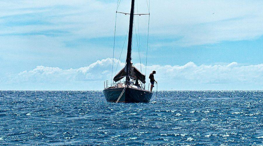 JJF blue sailing boat