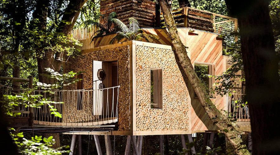 The Ultimate Woodsman's Treehouse oak designer treehouse exterior view