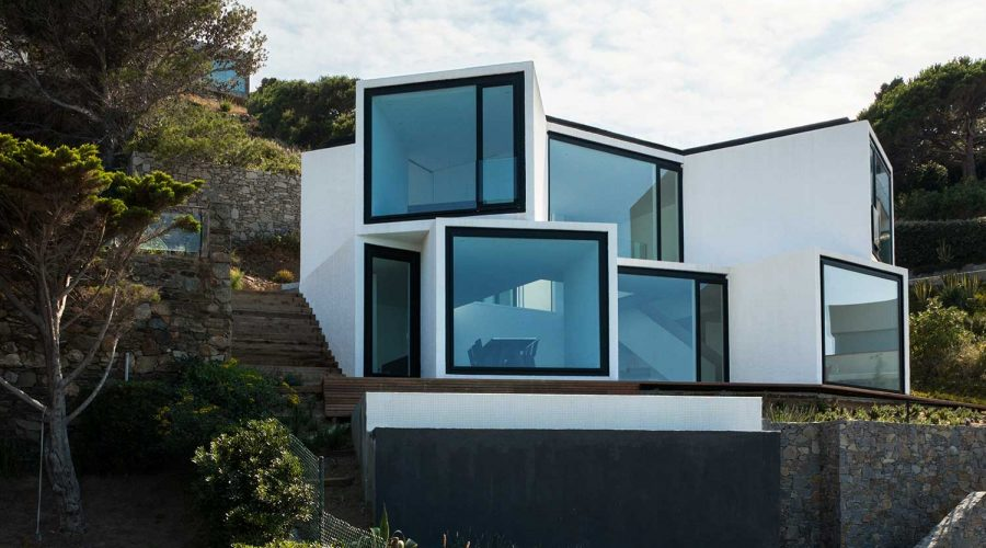 The Sunflower House in Spain - Modern coastal architecture white outside view | SEIKK Magazine