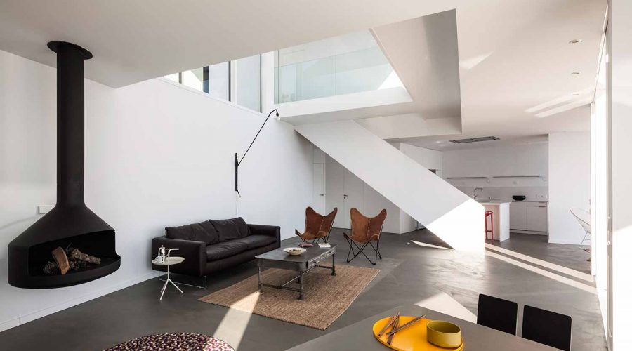 The Sunflower House in Spain - Modern coastal architecture white living room | SEIKK Magazine