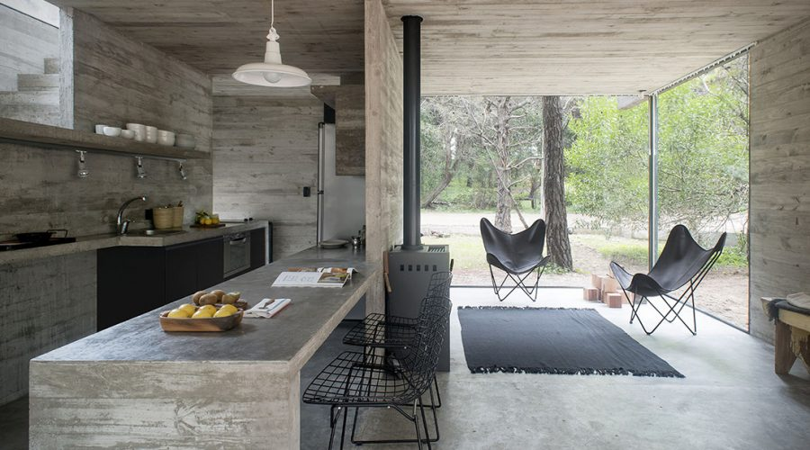 h3 house by luciano kruk modern architecture Argentina kitchen - Concrete Cabin H3 House south east of Buenos Aries in Mar Azul