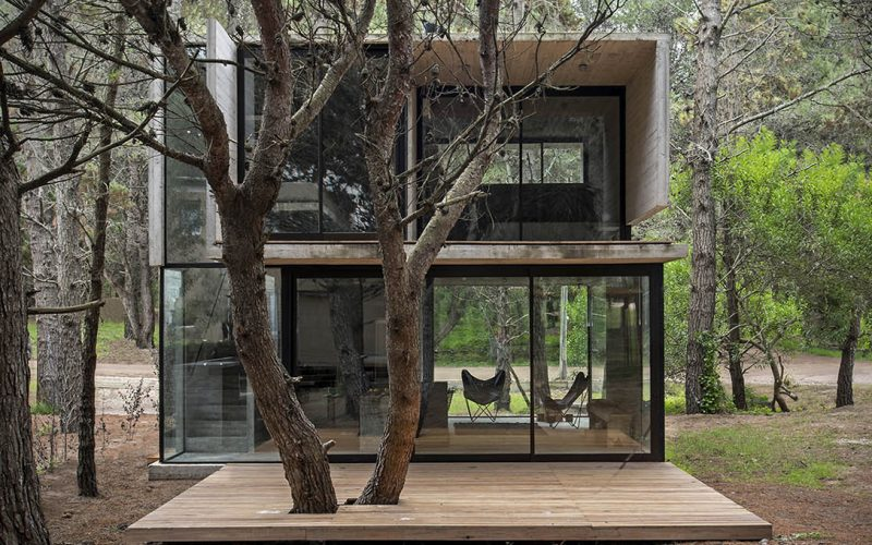 Concrete Cabin In Argentina - H3 House by Luciano Kruk Architects - Outside Front View