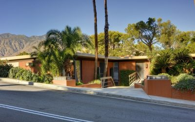 movie icon steve mcqueen 1960s home Southridge Palm Springs street view exterior for sale