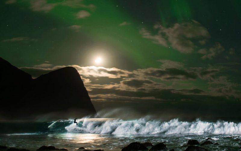 Arctic Surfing Mick Fanning Surfing in Lofoten Norway under The Northern Lights | SEIKK Magazine