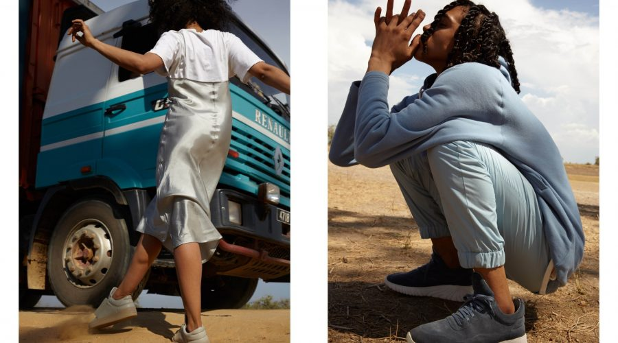 Filling Pieces sneakers African lookbook - white shoes and grey shoes | SEIKK Magazine