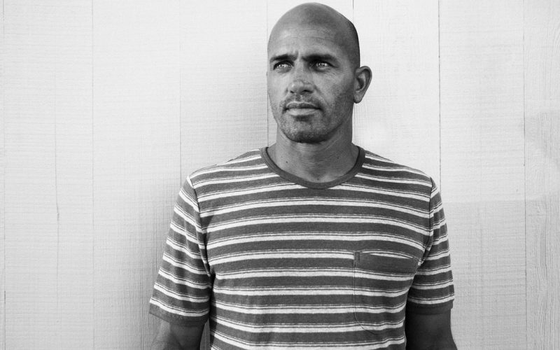Kelly Slater surfer black and white photo outerknown fiji pro