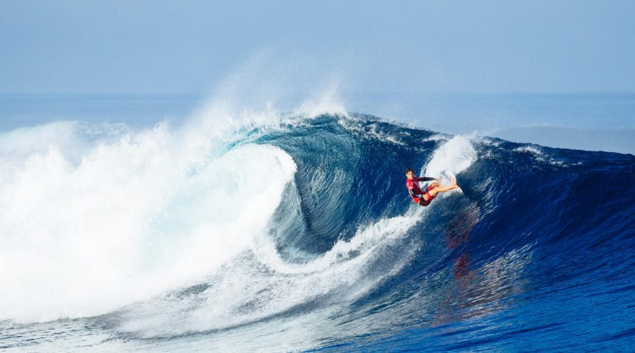 Gabriel medina surfing a perfect wave outerknown fiji pro