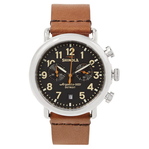 Shinola-The-Runwell-41mm-Stainless-Steel-And-Leather-Chronograph-Watch-Brown-2