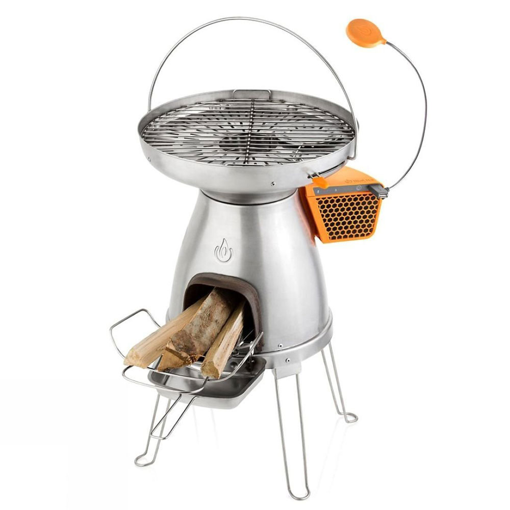BioLite BaseCamp Stove for off-grid camping in silver