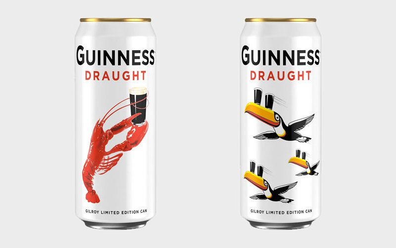 Guinness can gilroy edition white best ever guinness adverts