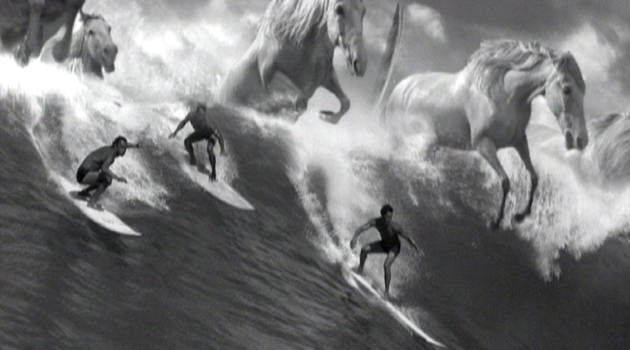 Guiness surfer advert with giant wave and horses is one of the best ever guinness adverts made