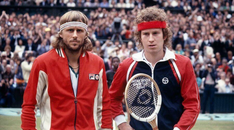 Borg vs McEnroe Film - Bjorn Borg vs John McEnroe Wimbledon tennis match two players centre court | SEIKK Magazine