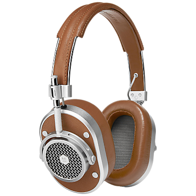 Master & Dynamic MH40 Headphones with Mic/Remote for iOS in brown and silver