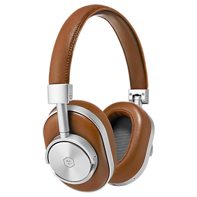 Master & Dynamic MW60 Wireless Bluetooth Headphones with Mic/Remote in brown and silver