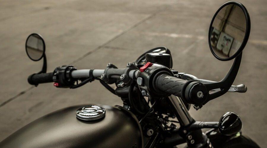 Triumph Bonnerville Bobber Motorcycle - black custom triumph bobber motorbike UK handlebar | SEIKK Magazine