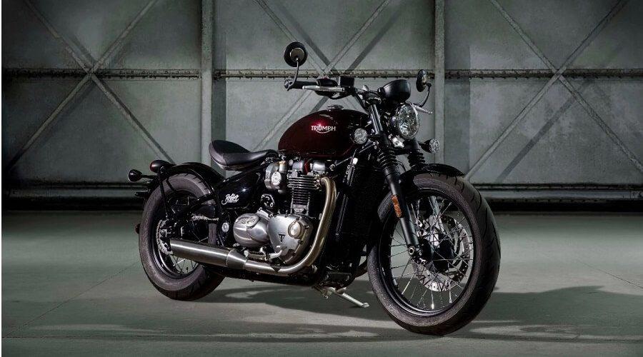Triumph Bonnerville Bobber Motorcycle - red custom triumph bobber motorbike UK | SEIKK Magazine