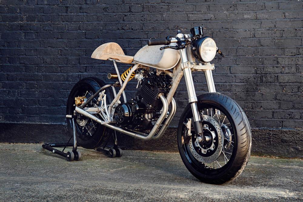 Lions Den Motorcycles UK Custom Cafe Racer Bike Build In Progress