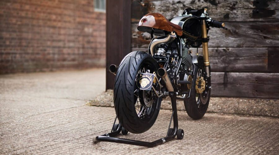 Lions Den Motorcycles Dirt Racer Custom Cafe Racer Bike UK Back View | SEIKK Magazine