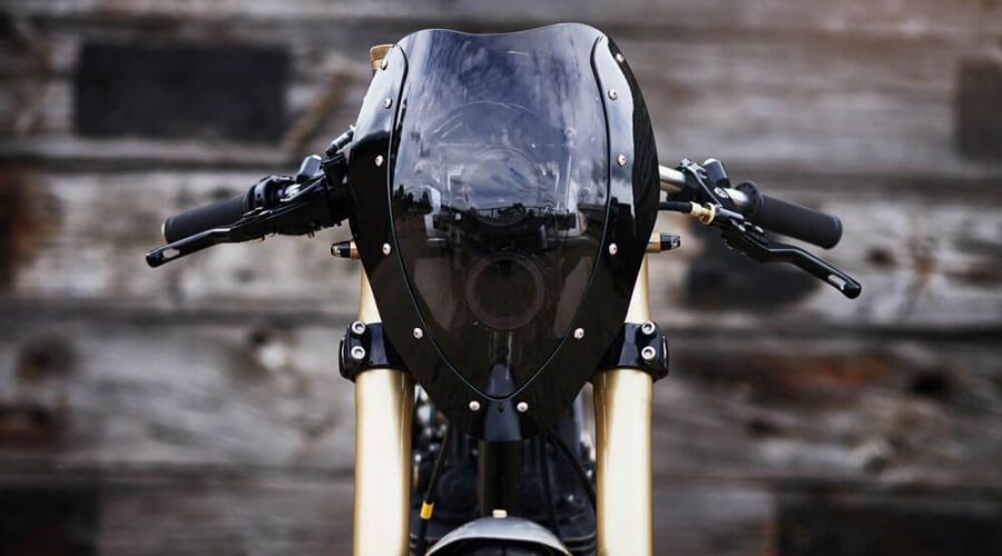 Lions Den Motorcycles Dirt Racer Custom Cafe Racer Bike UK Front | SEIKK Magazine