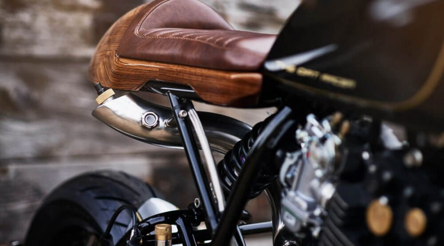 Lions Den Motorcycles Dirt Racer Custom Cafe Racer Bike UK Seat Detail | SEIKK Magazine