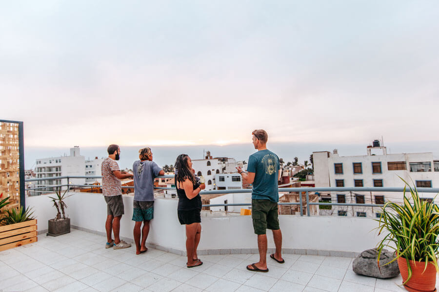 unleash surf peru chicama beach roof top view Huanchaco - remote working for digital nomads