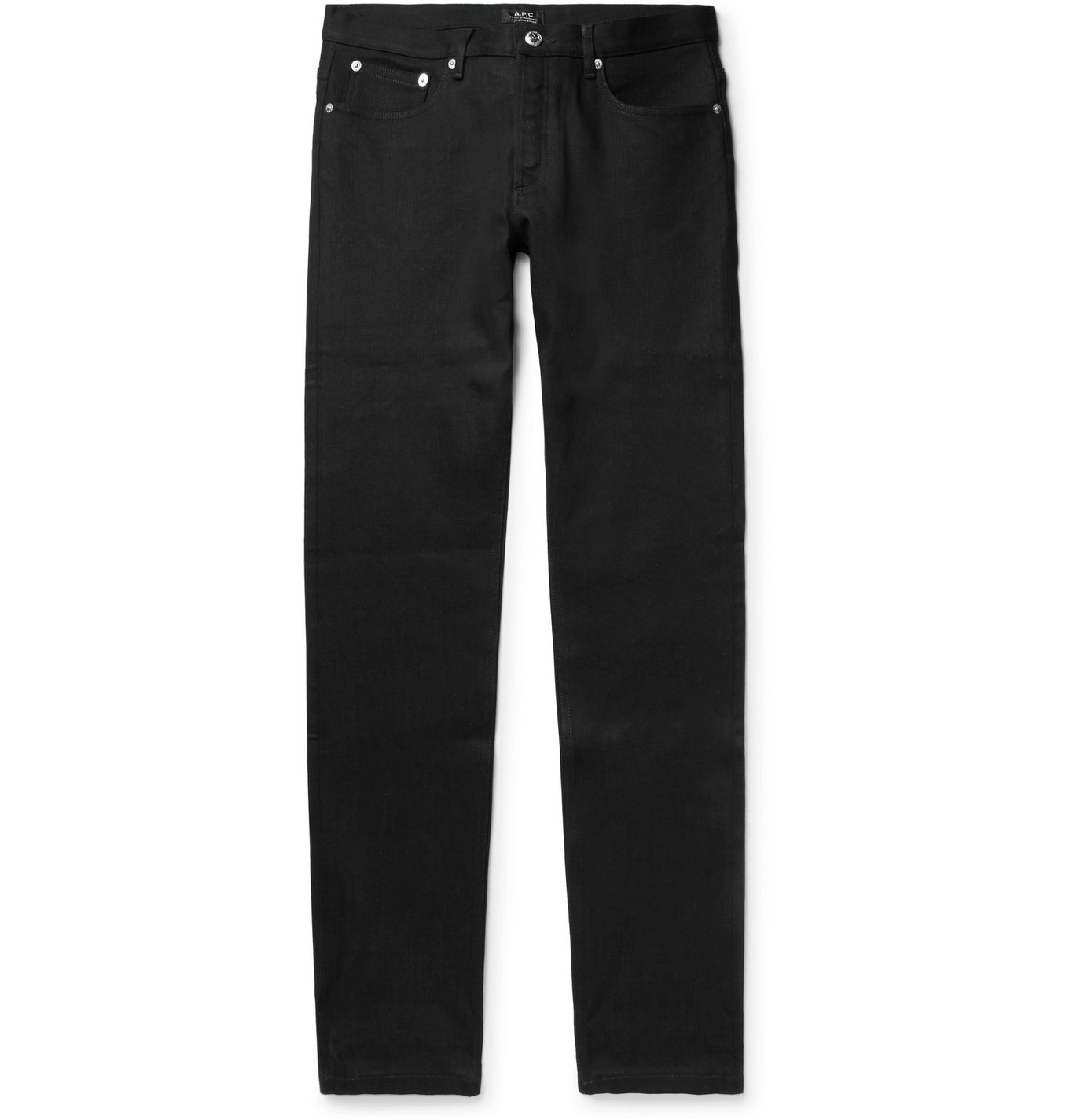 A.P.C. - Petit Standard Slim-fit Stretch-denim Jeans - Black