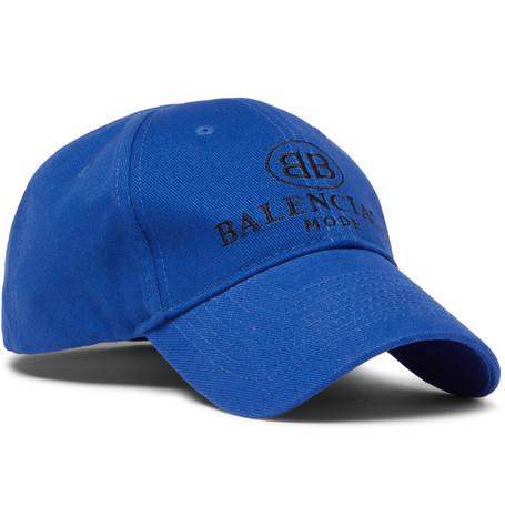 Balenciaga - Logo-embroidered Cotton Baseball Cap - Blue