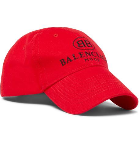 Balenciaga - Logo-embroidered Cotton Baseball Cap - Red