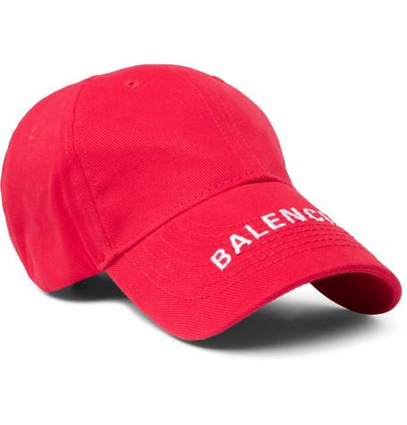 Balenciaga - Logo-embroidered Cotton-twill Baseball Cap - Red