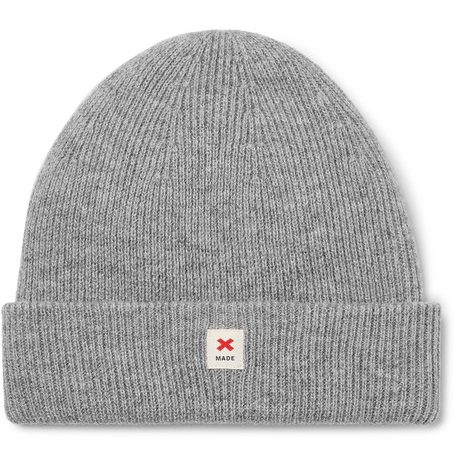 Mens Best Made Company Cap Of Courage Ribbed Merino Wool Beanie in Grey