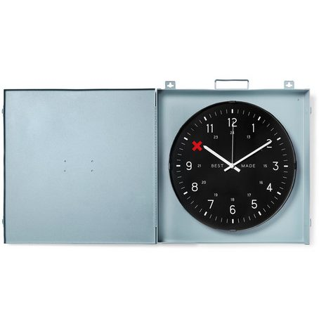 Mens Best Made Company Workshop Metal Clock in Grey