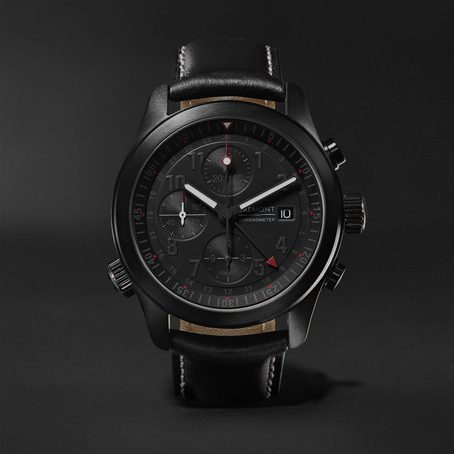 Mens Bremont Alt1-b Automatic Chronograph 43mm Stainless Steel And Leather Watch in Black