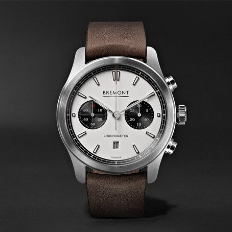 Mens Bremont Alt1-c Automatic Chronograph 43mm Stainless Steel And Leather Watch in White