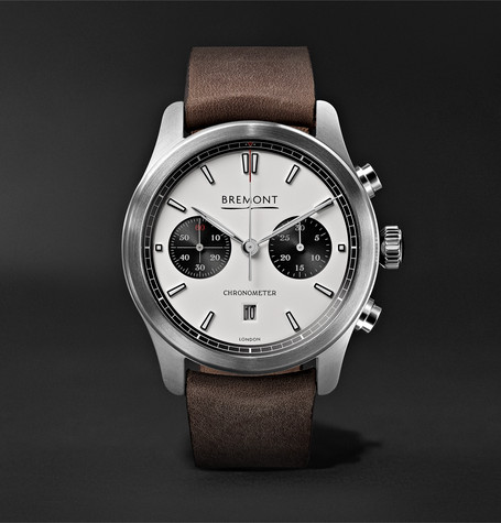 Bremont - Alt1-c Automatic Chronograph 43mm Stainless Steel And Leather Watch - White