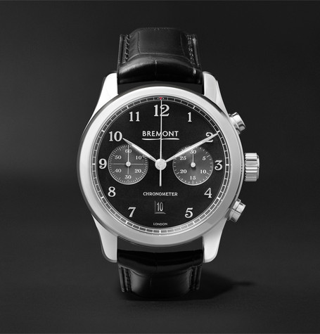Bremont - Alt1-classic/pb Automatic Chronograph 43mm Stainless Steel And Alligator Watch - Black