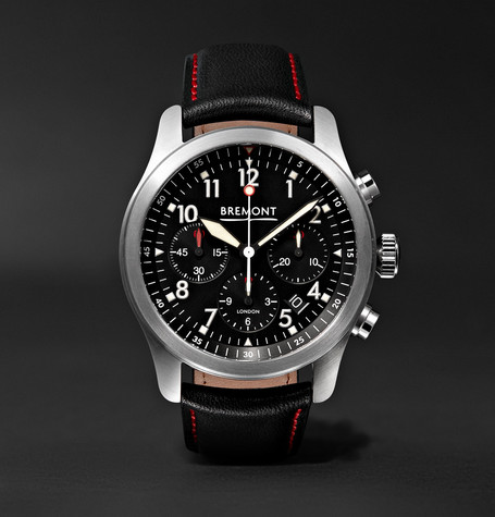 Bremont - Alt1-p/bk Automatic Chronograph 43mm Stainless Steel And Leather Watch - Black