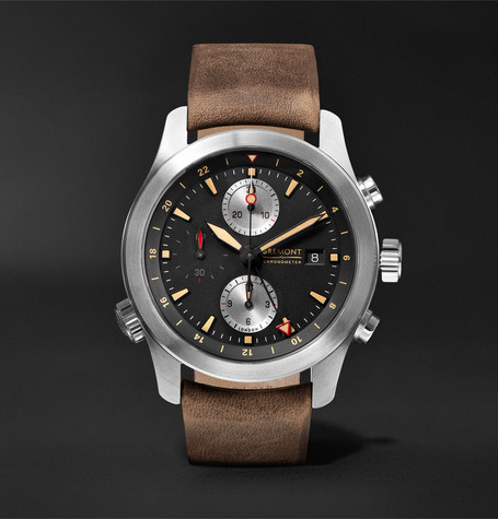 Bremont - Alt1-zt/51 Chronograph 43mm Stainless Steel And Leather Watch - Black