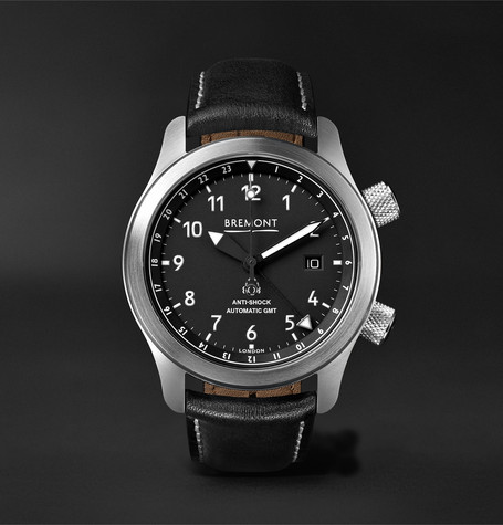Bremont - Mbiii/bzs Automatic 43mm Stainless Steel And Leather Watch - Black