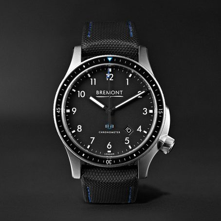 Mens Bremont Model 1 Ss/bk Automatic Chronometer 43mm Stainless Steel Watch in Black