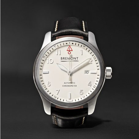 Bremont Solo P/w Automatic 43mm Stainless Steel And Leather Watch in White