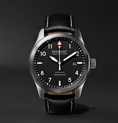 Bremont - Solo/wh Automatic 43mm Stainless Steel And Leather Watch - Black