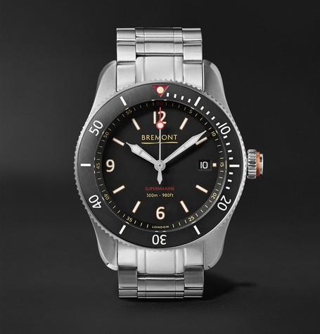 Bremont - Supermarine Type 300 40mm Stainless Steel Watch - Black