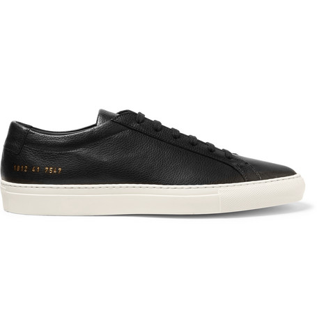Common Projects - Original Achilles Full-grain Leather Sneakers - Black