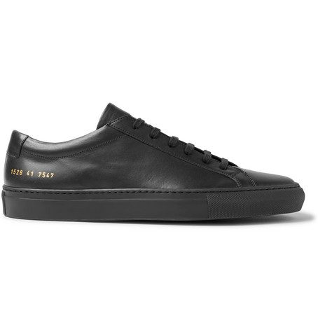 Mens Common Projects Original Achilles Leather Sneakers in Black