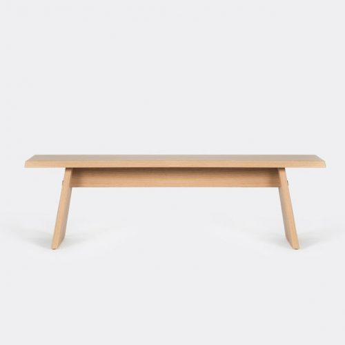 Mens Cruso June Bench in Natural Solid Oak