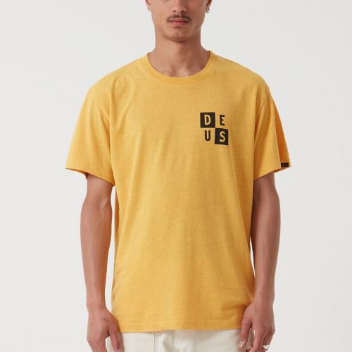 Mens Deus Ex Machina De Niro T-Shirt in Mineral Yellow