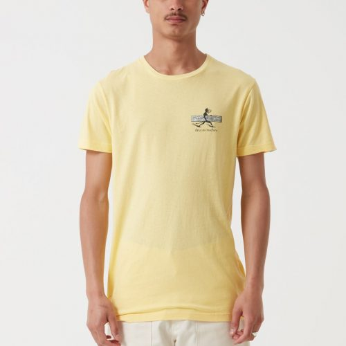Mens Deus Ex Machina Loggins T-Shirt in Yellow