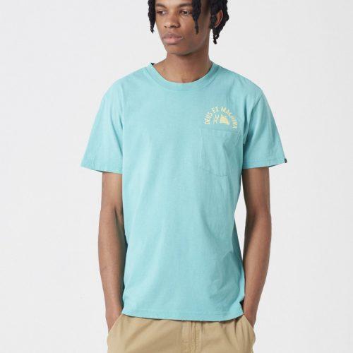 Deus Ex Machina Sunbleached Impermanence T-shirt - Lagoon Blue